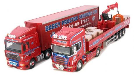 Corgi 1:50 Barry Proctor Gift Set with DAF XF & Scania 4 Series